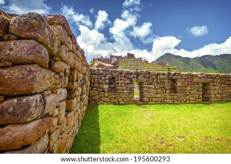 Inca city Machu Picchu (Peru)  - stock photo