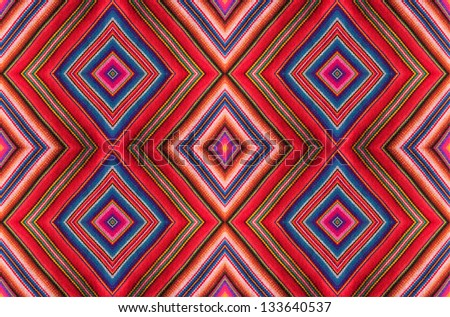 Inca fabric gift paper mosaic or wall paper. - stock photo