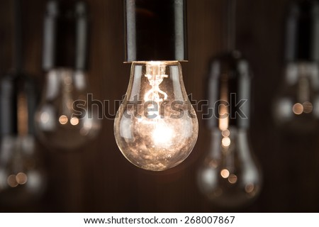 Incandescence bulbs - stock photo