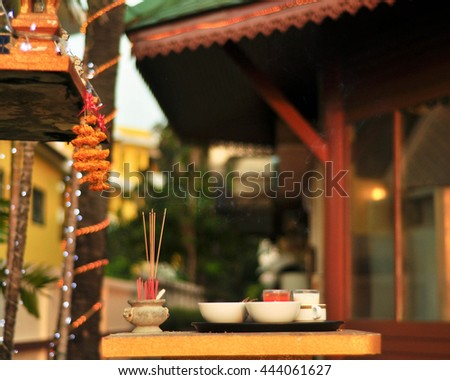 Incense on the altar - stock photo