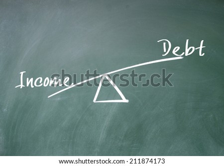 Income and debt concept - stock photo