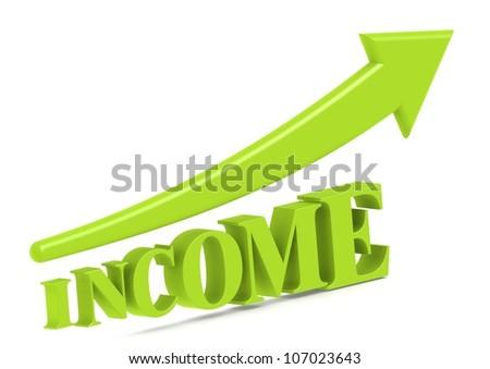 Income increase - stock photo