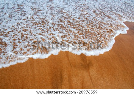 Incoming tide - stock photo