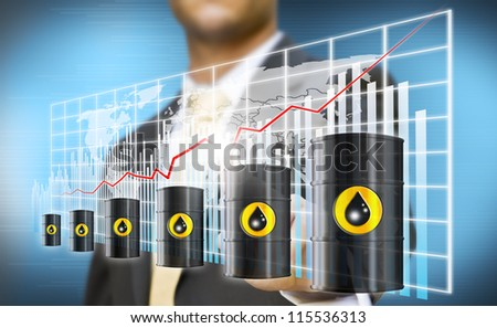Increase of price concept - stock photo