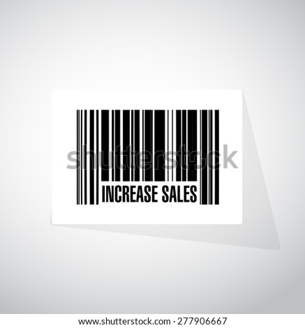 increase sales barcode sign concept illustration design over white - stock photo