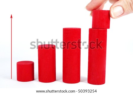 increase your profit- human contribution for increasing income - stock photo