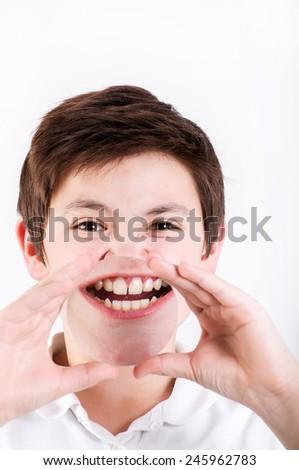 increased teeth - stock photo
