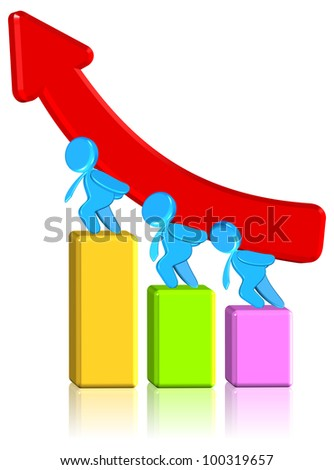 Increasing Business Chart - stock photo