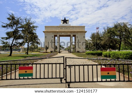 Independence Arch in Accra, Ghana - stock photo