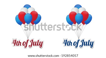 Independence day balloons. Vector available. - stock photo