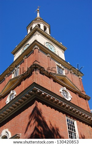 independence hall in Philadelphia, Pennsylvania - stock photo