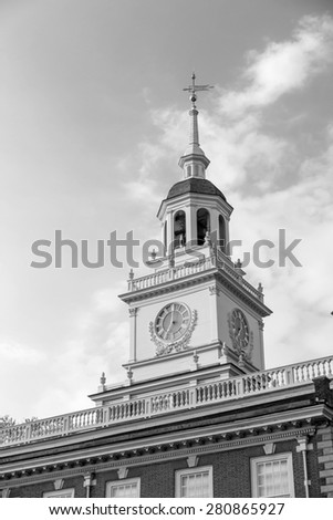Independence Hall in Philadelphia, Pennsylvania. - stock photo