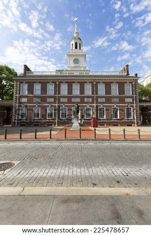 Independence Hall in Philadelphia, Pennsylvania, America. - stock photo