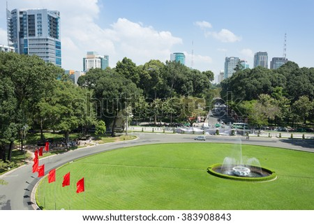 Independence Palace in HO CHI MINH CITY, VIETNAM - stock photo