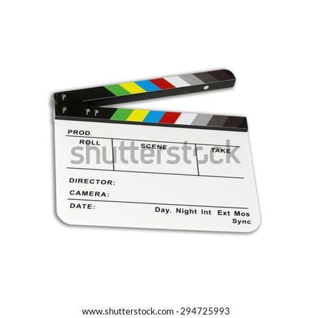 Independent movie clapper board - color checker - ( modified ) - stock photo