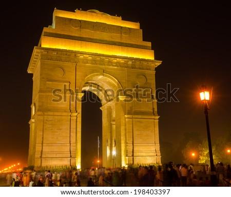 India Gate New Delhi, India - stock photo