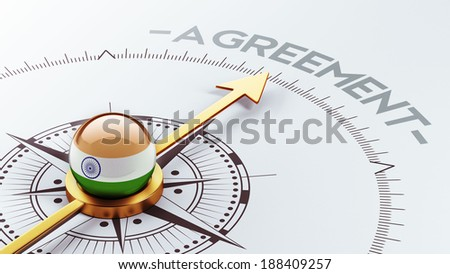 India High Resolution Agreement Concept - stock photo