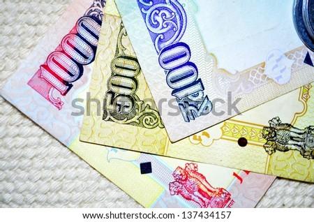 India Money - stock photo