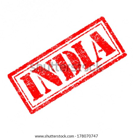 India Rubber Stamp  - stock photo
