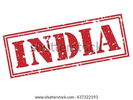 india stamp - stock photo