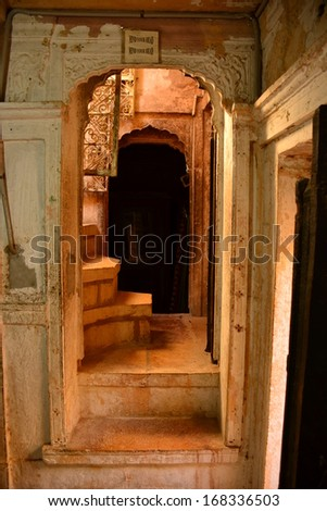 Indian architecture Rajasthan - stock photo