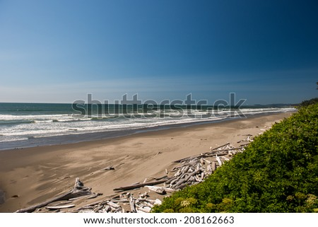 Indian Beach, OR - stock photo