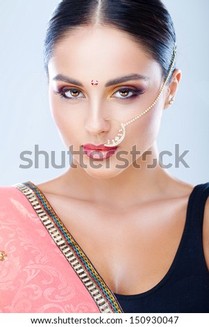 Indian beauty - stock photo
