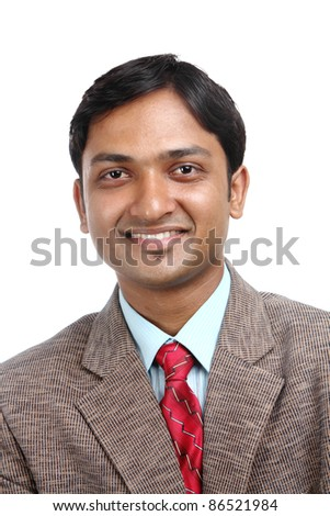 Indian business man portrait with expression. - stock photo