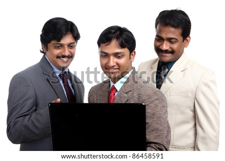Indian business people posing to the camera. - stock photo