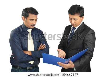 Indian Business people with files - stock photo