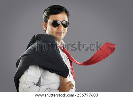 Indian Businessman Posing to Camera - stock photo