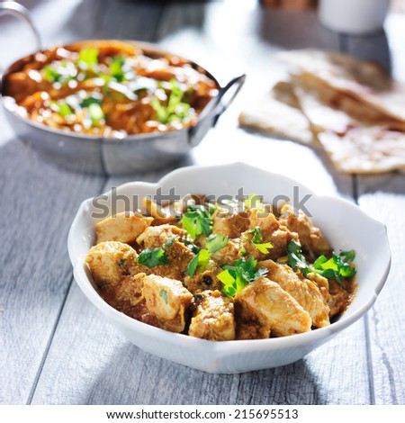 indian butter chicken curry - stock photo