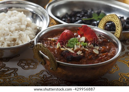 indian chicken curry in a pot  - stock photo