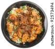 Indian chicken tikka biriyani convenience meal - stock photo