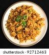 Indian chicken tikka briyani meal - stock photo