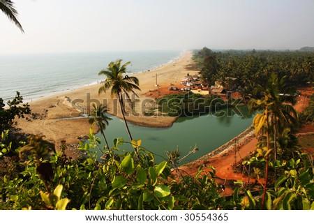 indian city beach - stock photo