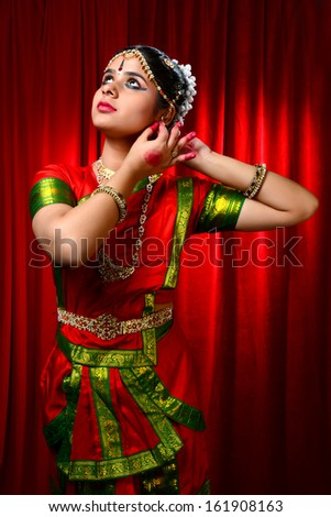Indian Classical Dancer - stock photo