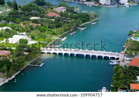 Indian creek resort bridge, Florida, USA - stock photo