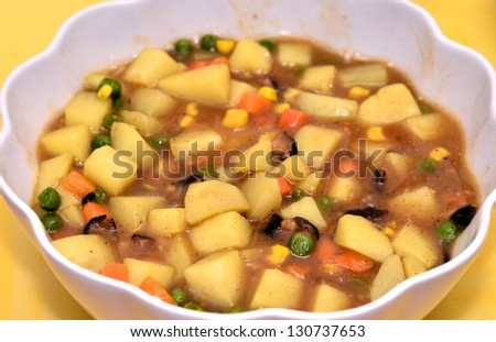 Indian curry dish - stock photo