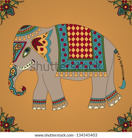 India elephant stock photos images pictures shutterstock - Elephant indien dessin ...