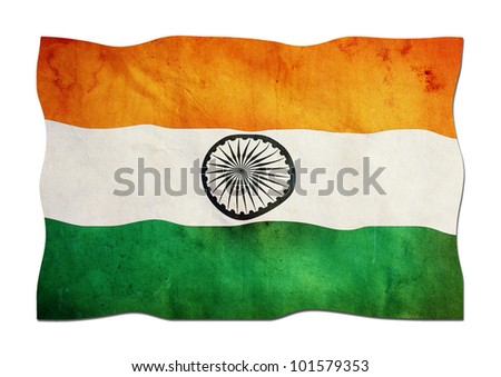 Indian Flag made of Paper - stock photo