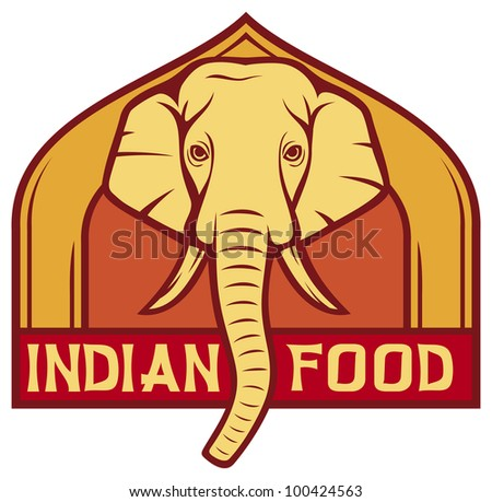 Indian food sign stock photos images pictures for Art of indian cuisine