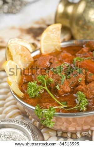 Indian food, Shahi Rogan Josh, lamb - stock photo