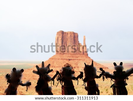Indian gifts of Monument Valley  - stock photo