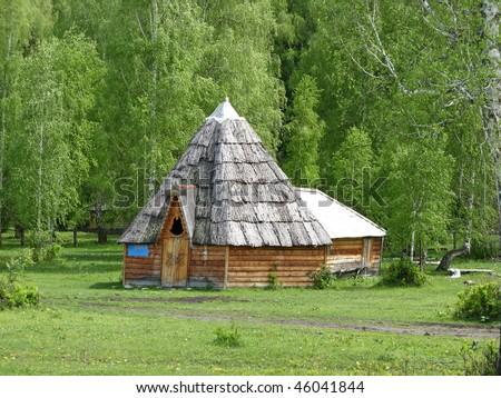 Indian hut - stock photo