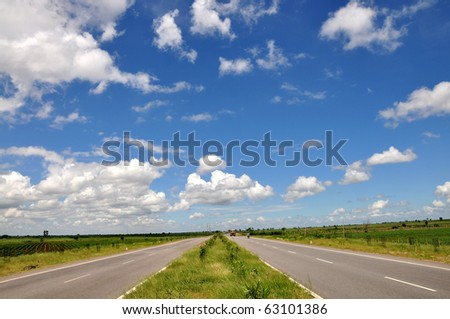 Indian National Highway 7 - stock photo