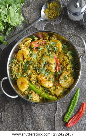 Indian prawn curry - stock photo