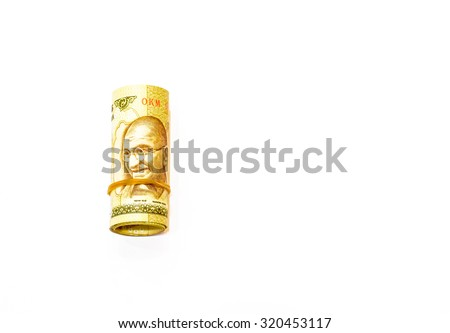 Indian rupee currency,money on white background - stock photo