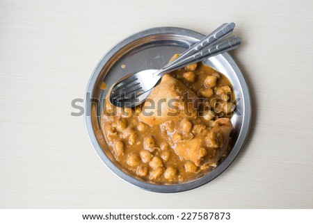 Indian samosas filled - stock photo