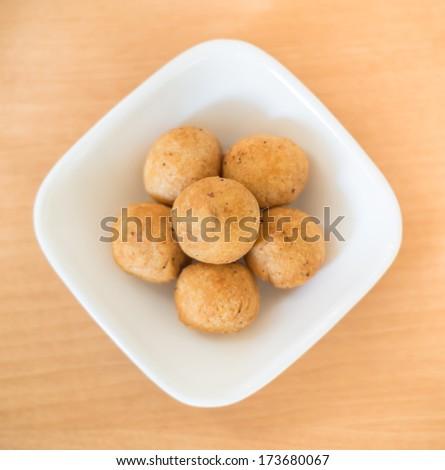 Indian Snack Kachori or Kachodi - stock photo